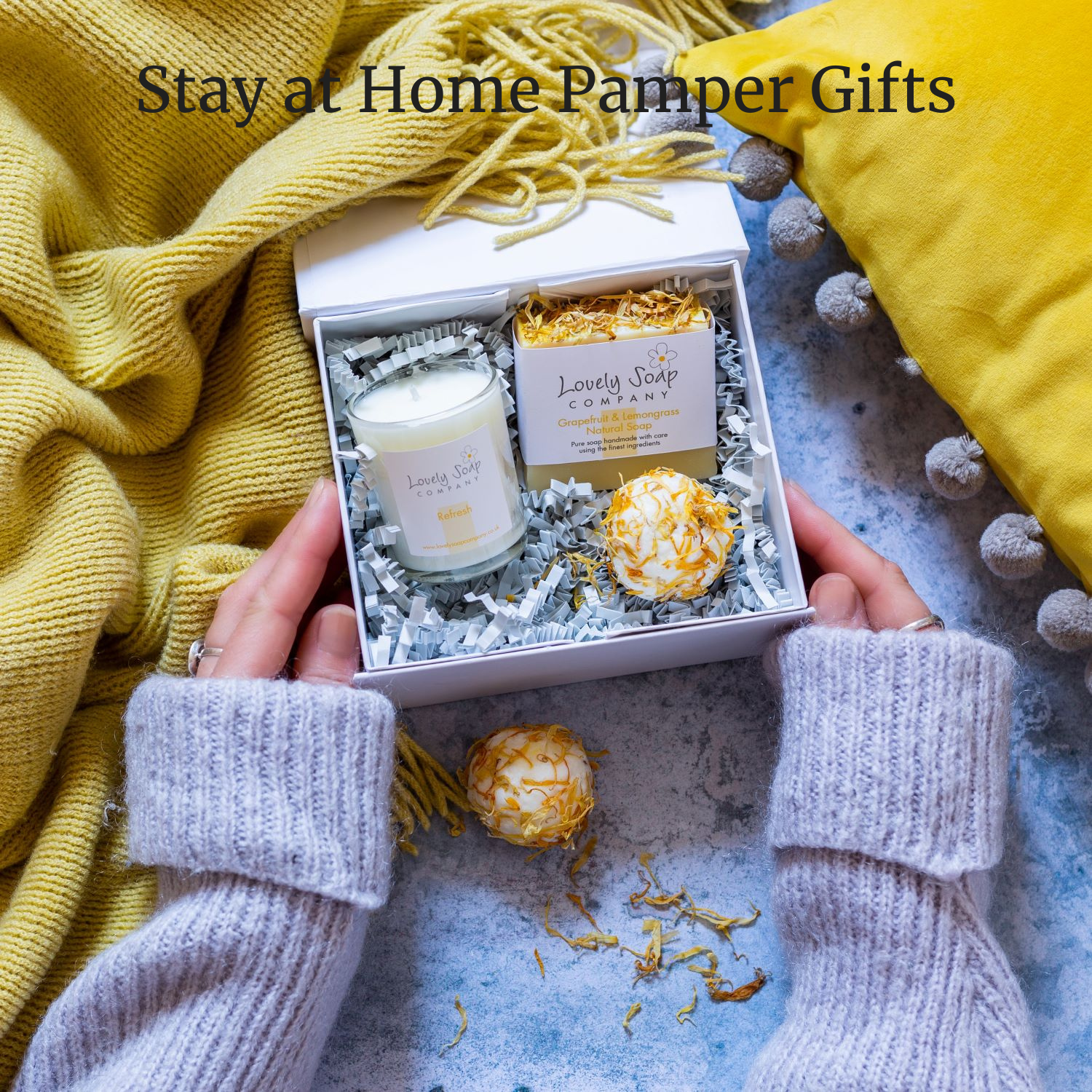 Lockdown pamper gifts stay at home pamper Lovely Soap Co