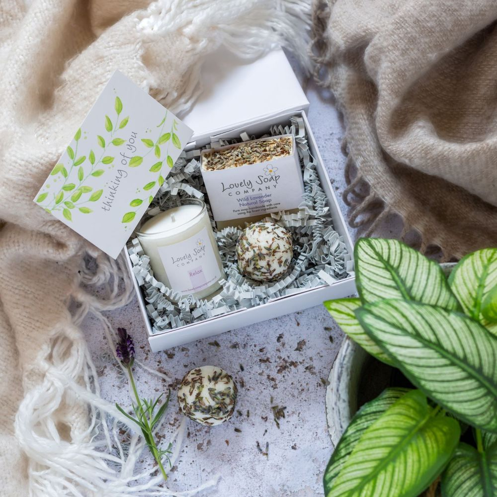 Personalised Thinking of You Pamper Gift by Lovely Soap Co