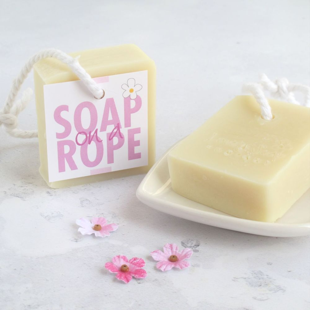 Sweet Orange & Geranium Soap on a Rope by Lovely Soap Co