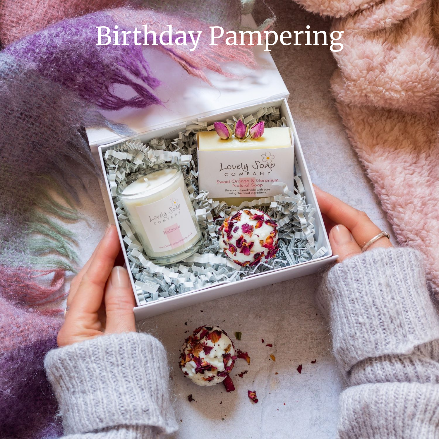 birthday pamper gifts for her Lovely Soap Co