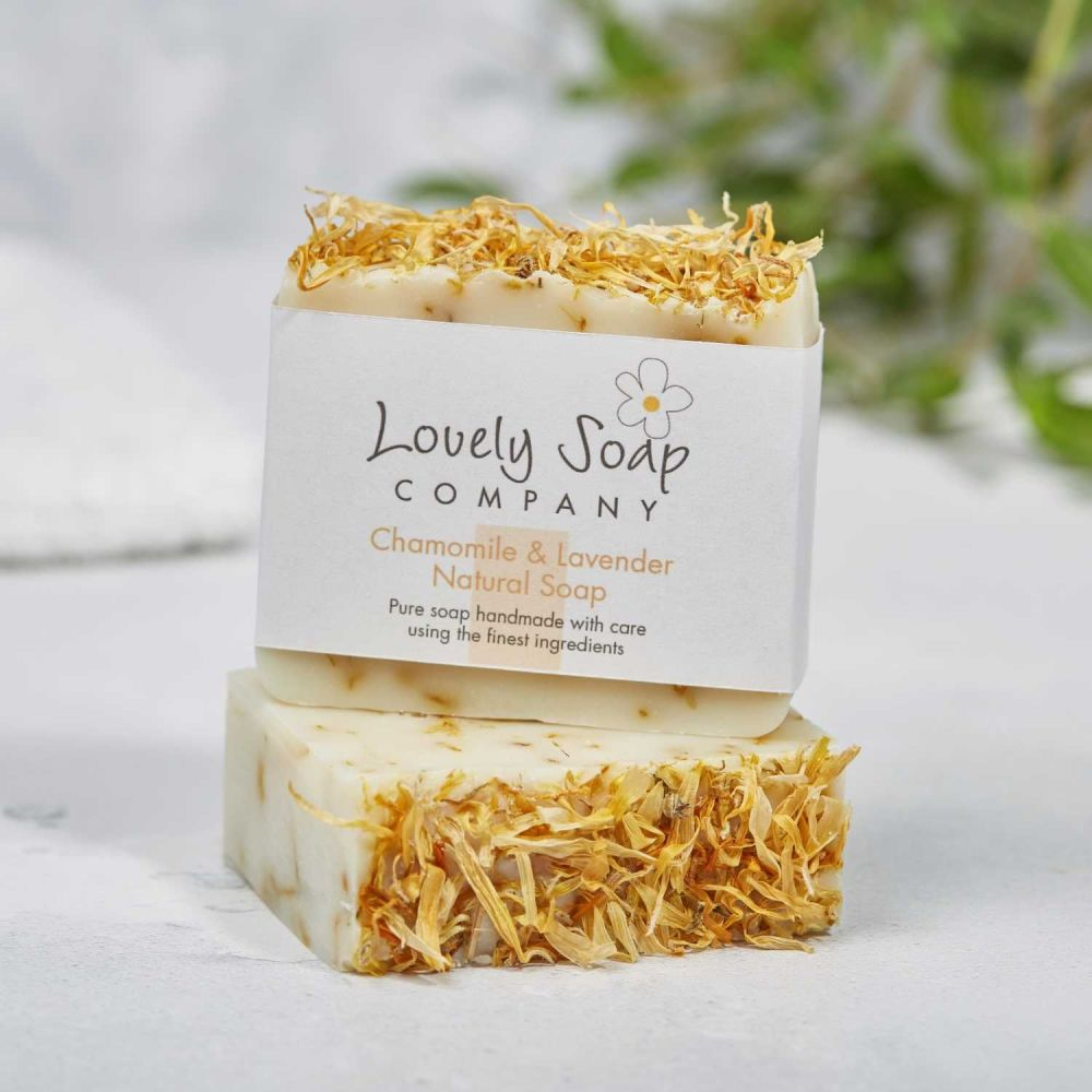 Chamomile & Lavender Natural Soap Handmade by Lovely Soap Co