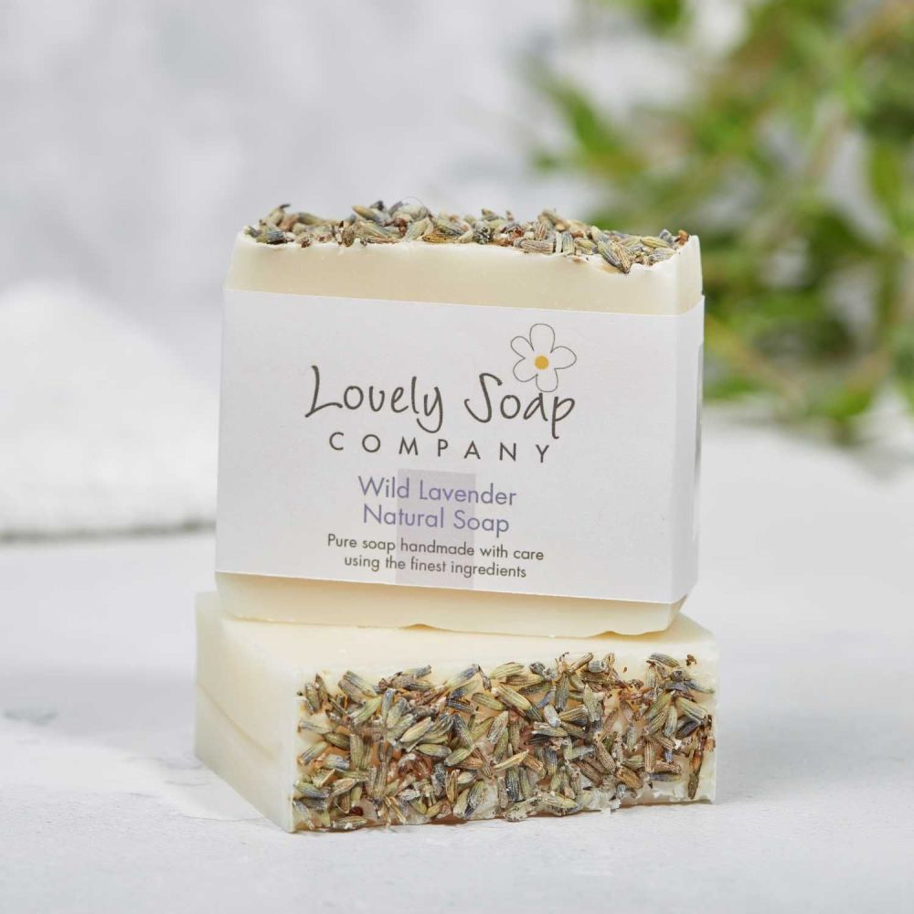 Wild Lavender Natural Soap handmade by Lovely Soap Co