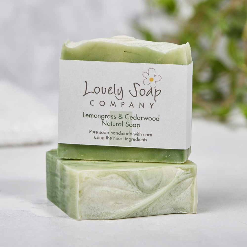Lemongrass & Cedarwood Natural Soap handmade by Lovely Soap Co