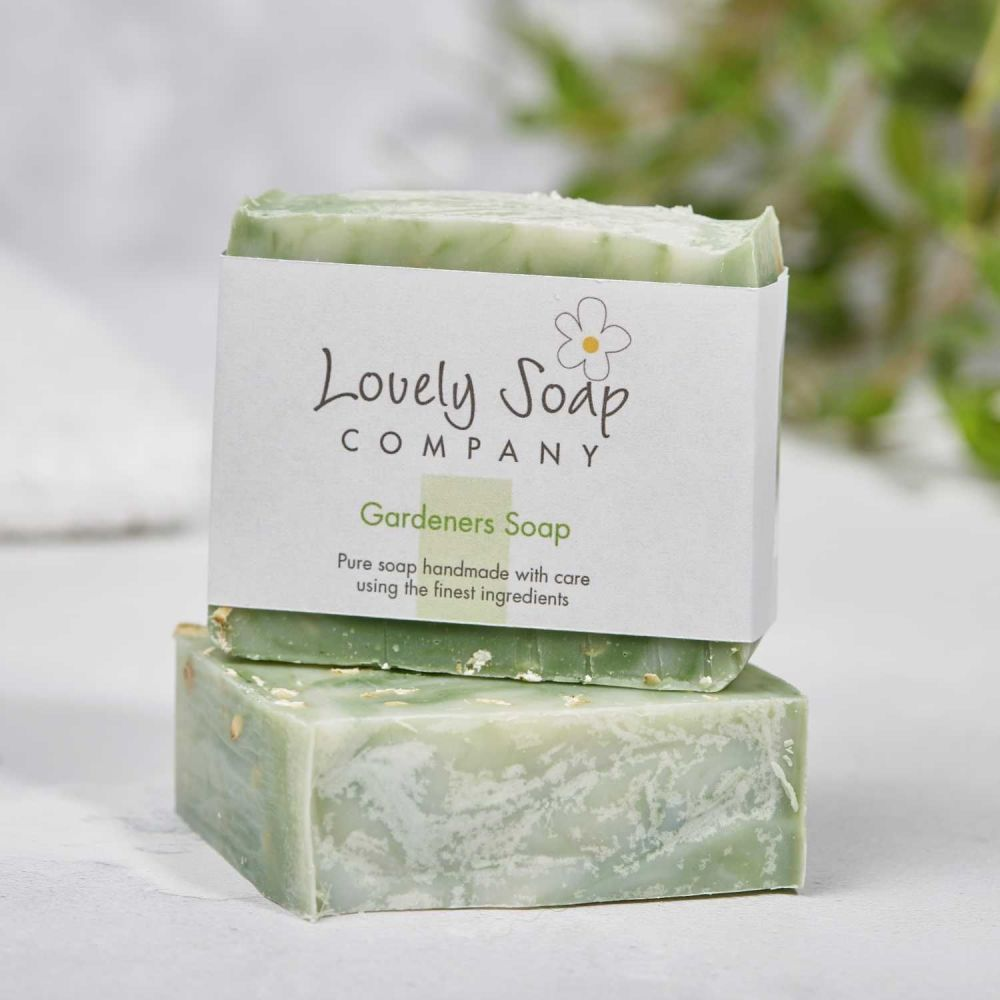 Gardeners Natural Soap handmade by Lovely Soap Co