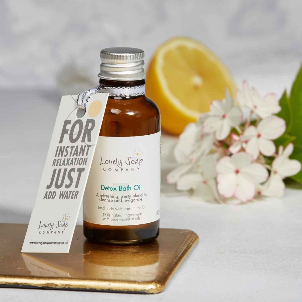 Detox Aromatherapy Bath Oil by Lovely Soap Co