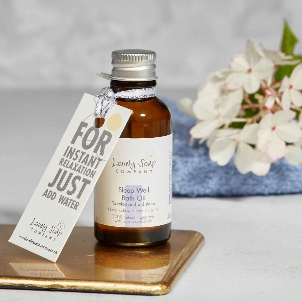 Sleep Well Aromatherapy Bath Oil by Lovely Soap Co