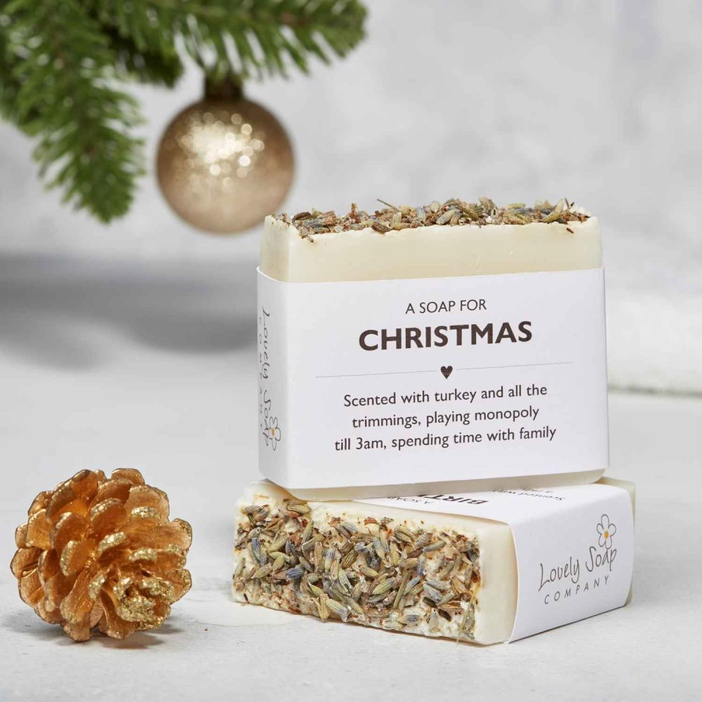 Christmas Sentiments Soap Gift by Lovely Soap Co