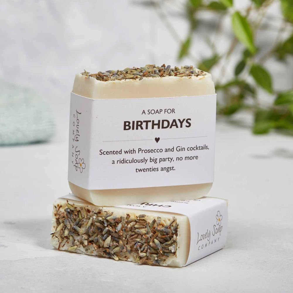 Happy Birthday Sentiments Soap Gift by Lovely Soap Co
