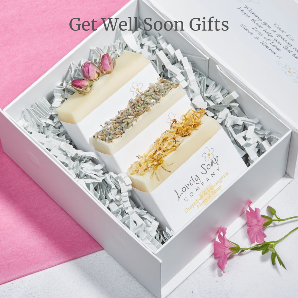 Get Well Soon personalised gifts Lovely Soap Co