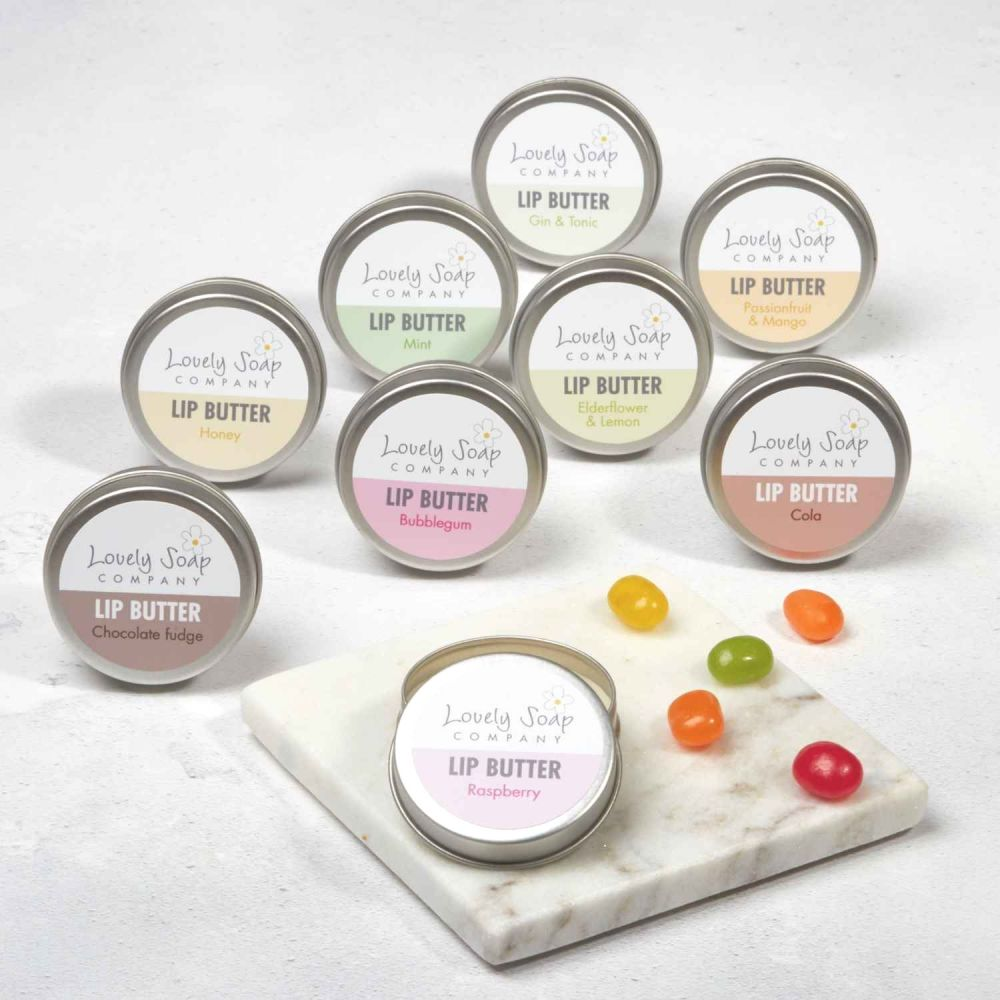 Organic Mint Lip Butter natural beeswax balms Lovely Soap Co