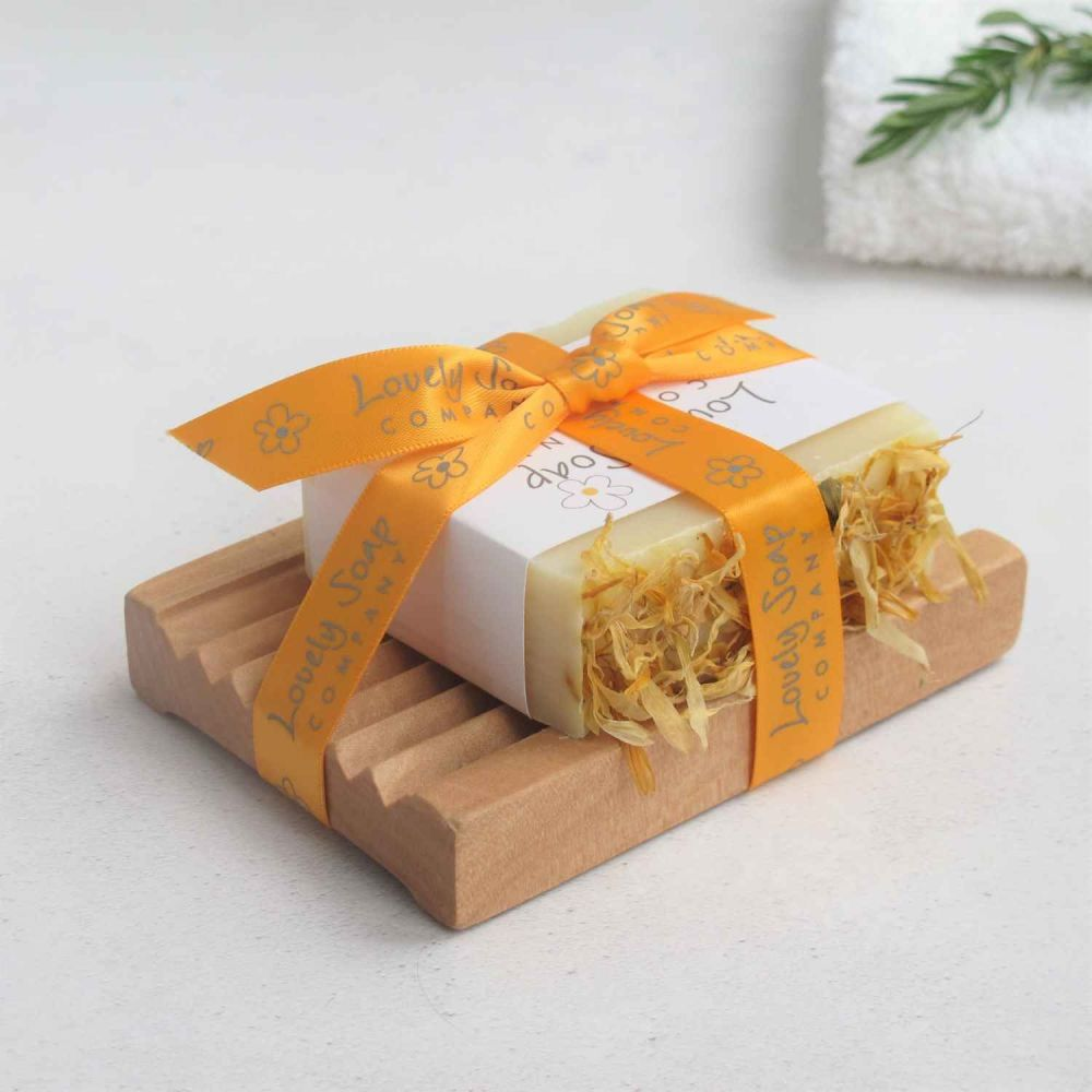 Handmade Soap Bar & Dish Set Lovely Soap Co