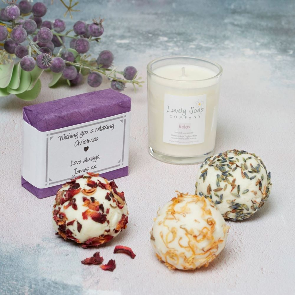 Personalised Pamper Gift Set by Lovely Soap Co