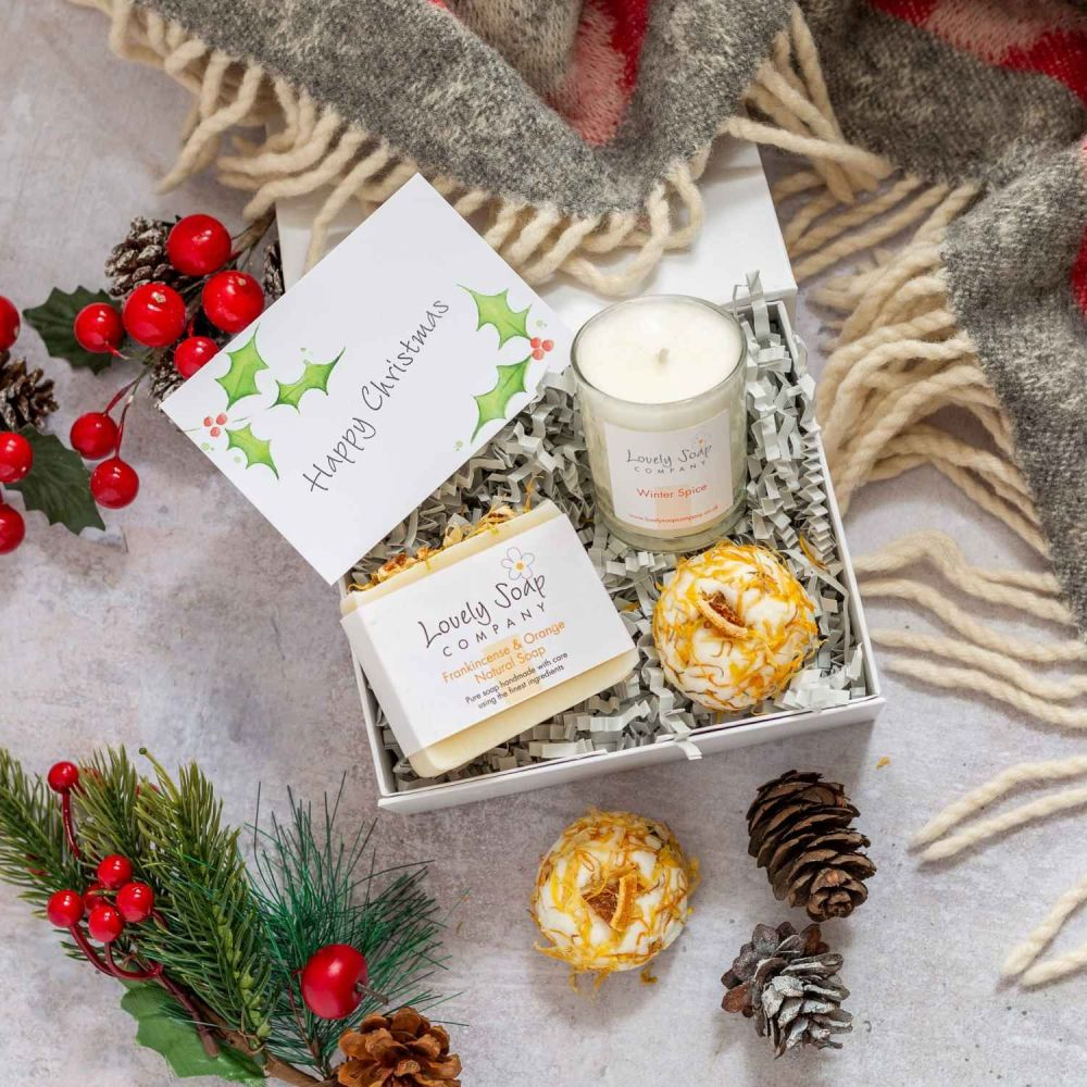 Personalised Christmas Pamper Box Lovely Soap Co