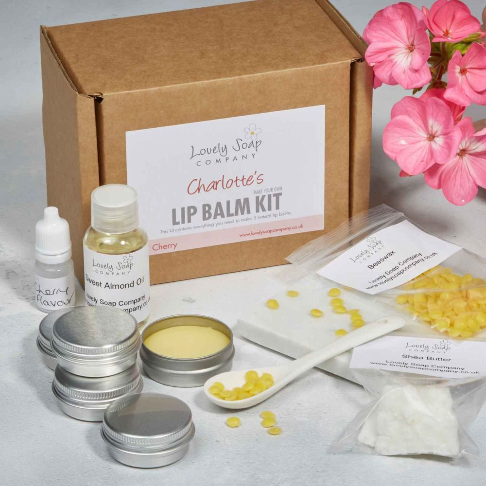 Personalised Lip Balm Kit Lovely Soap Co