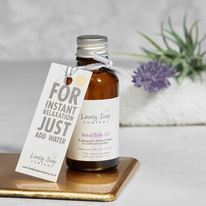 Relaxing bath oil Lovely Soap Co