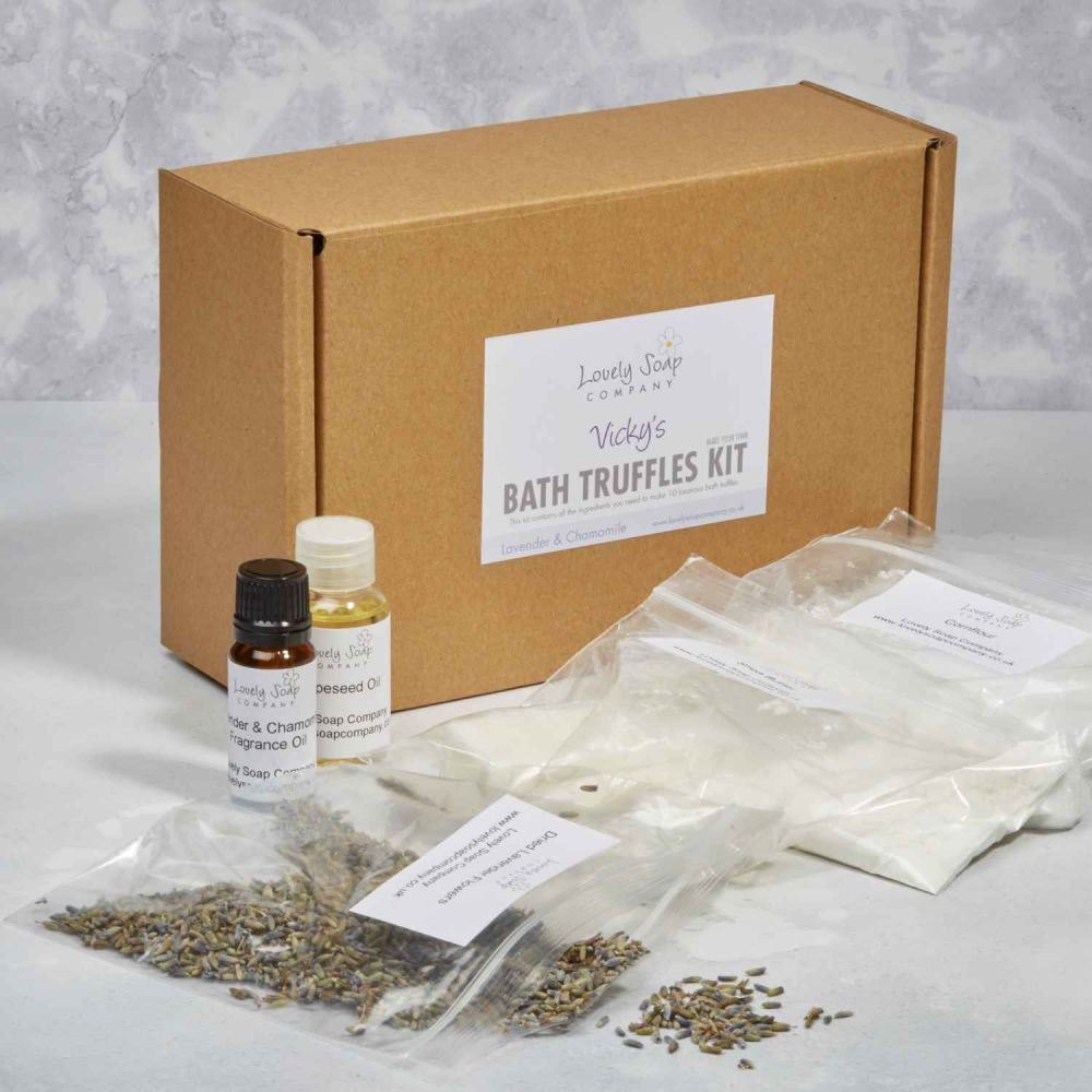 Personalised Bath Truffle Making Kit by Lovely Soap Co