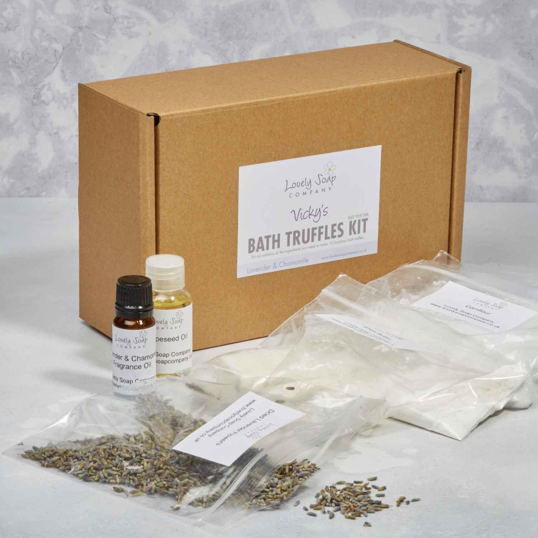 Personalised bath truffle making kit Lovely Soap Co