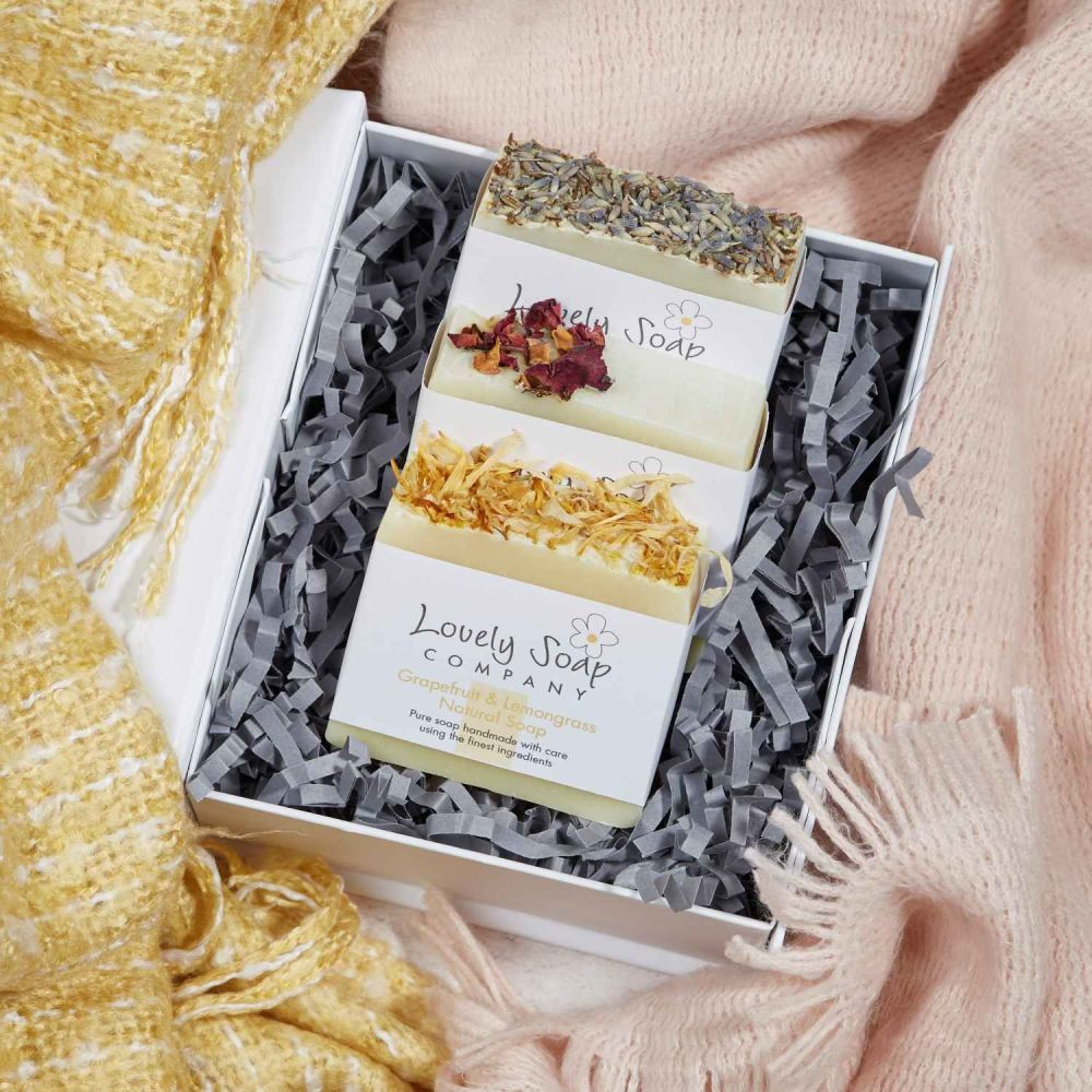 Personalised Soap Selection Gift Set Lovely Soap Co