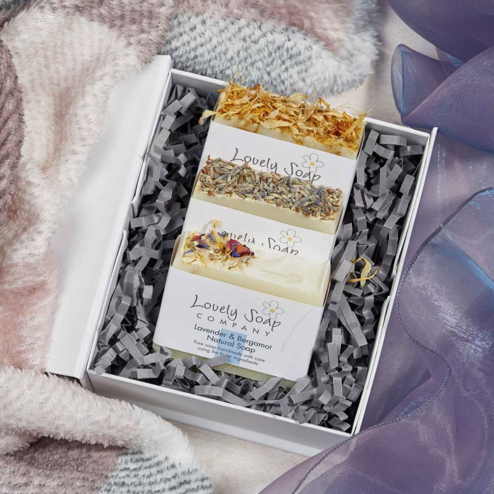 Personalised Lavender Soap Collection Gift Set Lovely Soap Co