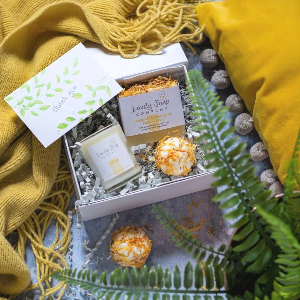 Personalised Thank You Pamper Box by Lovely Soap Co