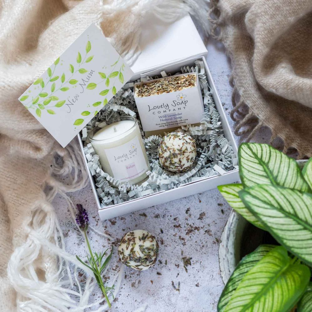 Personalised New Mum Pamper Box Lovely Soap Co