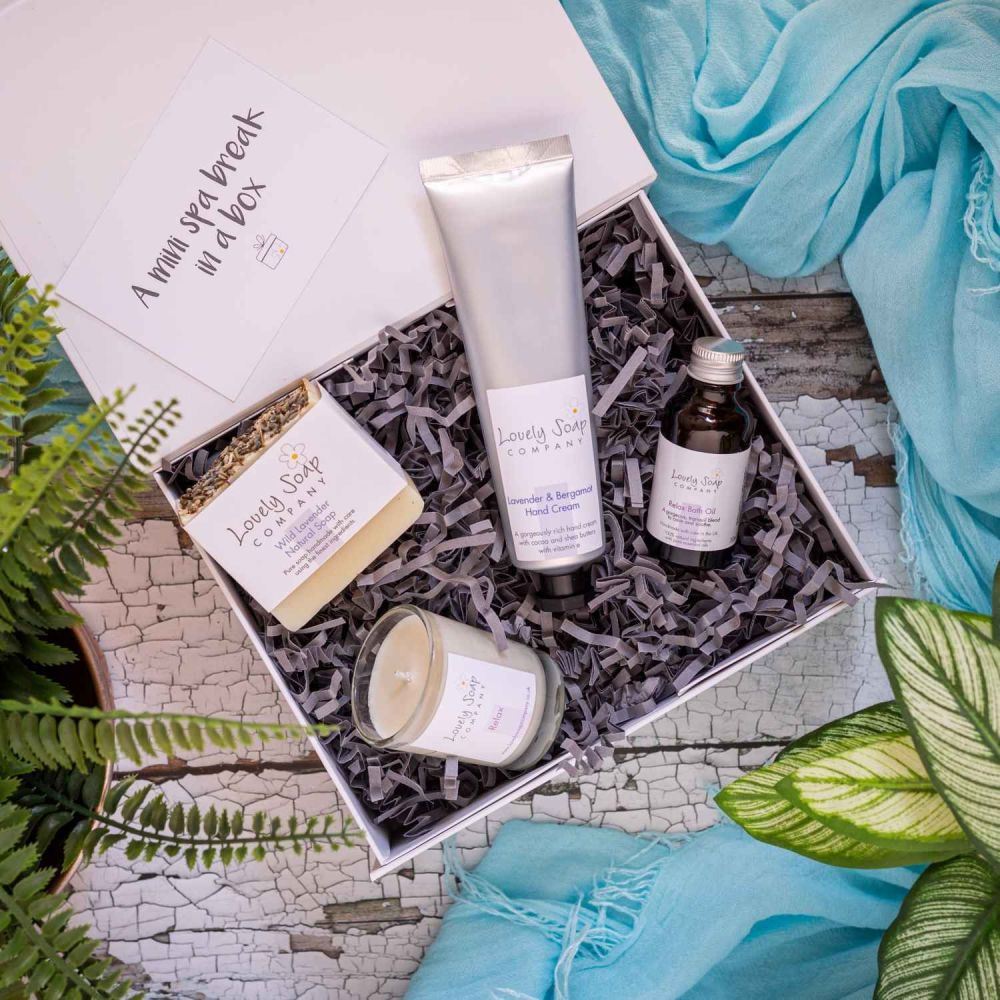 Mini Spa Break in a Box personalised gift Lovely Soap Co