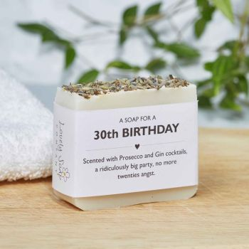 30th Birthday Personalised Soap Gift