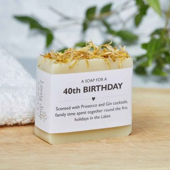 40th Birthday Personalised Soap Gift