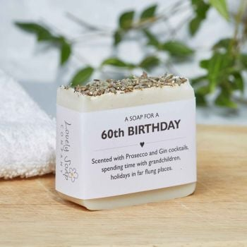 60th Birthday Personalised Soap Gift