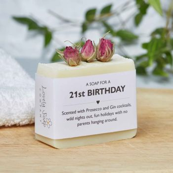 21st Birthday Personalised Soap Gift