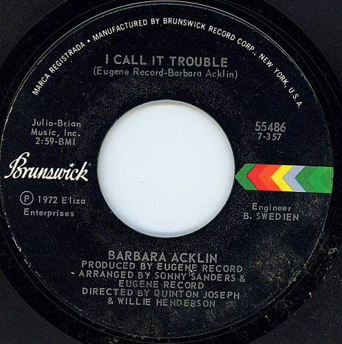Barbara Acklin - I Call It Trouble