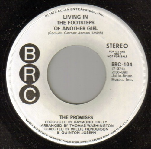 Promises - Living In The Footsteps Of Another Girl