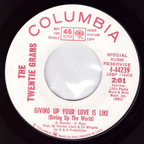 Twentie Grans - Giving Up Your Love Is Like (DEMO)