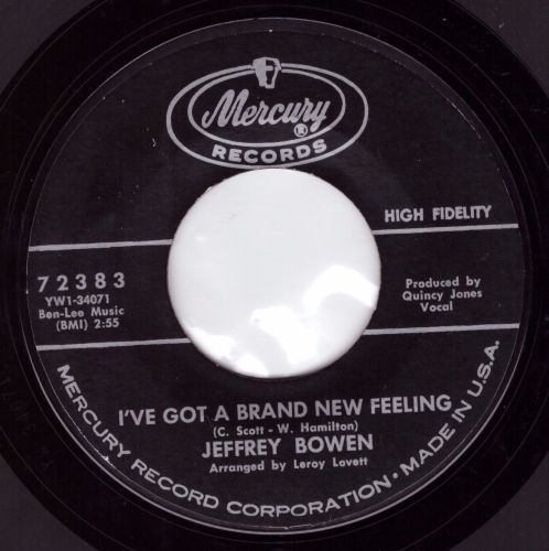 Jeffrey Bowen - I've Got A Brand New Feeling