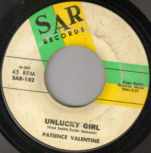 PATIENCE VALENTINE - UNLUCKY GIRL