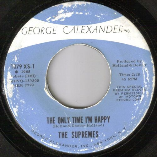 SUPREMES - THE ONLY TIME I'M HAPPY