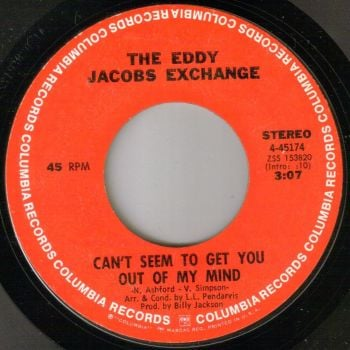 EDDY JACOBS EXCHANGE - CAN'T SEEM TO GET YOU OUT OF MY MIND