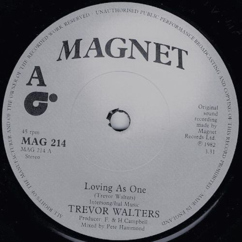 TREVOR WALTERS - LOVING AS ONE