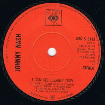 JOHNNY NASH - I CAN SEE CLEARLY NOW - CBS