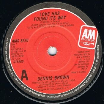 DENNIS BROWN - LOVE HAS FOUND ITS WAY