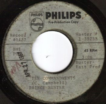 PRINCE BUSTER - TEN COMMANDMENTS