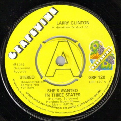 LARRY CLINTON - SHE'S WANTED IN THREE STATES
