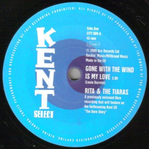 RITA AND THE TIARAS - GONE WITH THE WIND IS MY LOVE