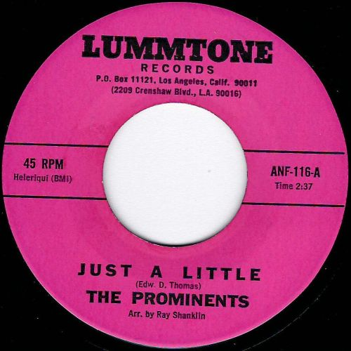 PROMINENTS - JUST A LITTLE