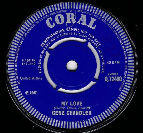 GENE CHANDLER - MY LOVE / THE GIRL DON'T CARE