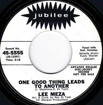 LEE MEZA - ONE GOOD THING LEADS TO ANOTHER