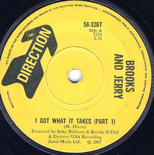 BROOKS AND JERRY - I GOT WHAT IT TAKES PT 1 & 2
