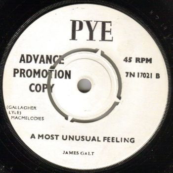 JAMES GALT - A MOST UNUSUAL FEELING  / WITH MY BABY