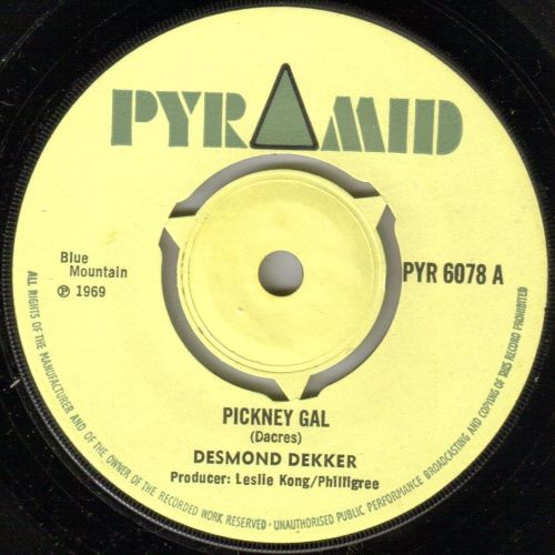 DESMOND DEKKER - PICKNEY GAL