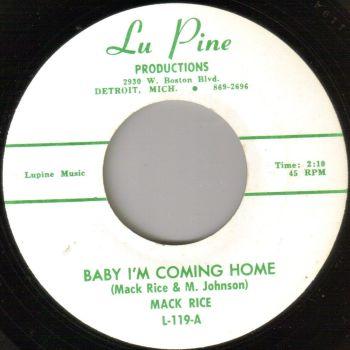 MACK RICE - BABY I'M COMING HOME